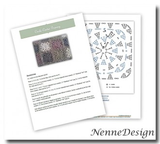 NenneDesign haakpatroon Circle Center Granny Square pdf