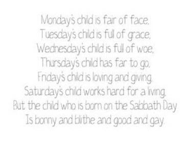 Mondays_child