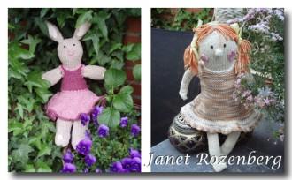 Gebreide pop en konijn