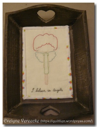 NenneDesign Stitchery I believe in angels Evelyne Vereecke