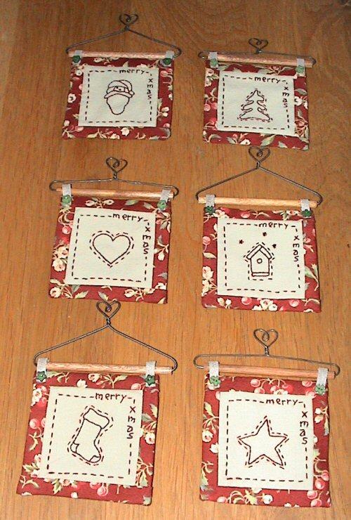 Nennedesign Borduren En Haken Kerstkaarten Nennedesign Borduren